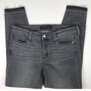 Liverpool gray crop released hem jean